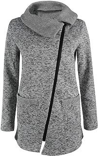 YIBEIANYU Women's Autumn And Winter Fashion Side Zipper Jacket Jacket Sweater Coat