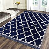 Sparrow World Solid Carpet (Blue, Chenille, 5 x 7 ft)