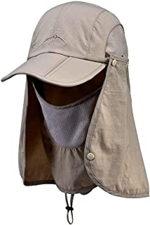 AMAZACER Multi-Purpose Sunhat with Neck Protection (Color : Khaki)
