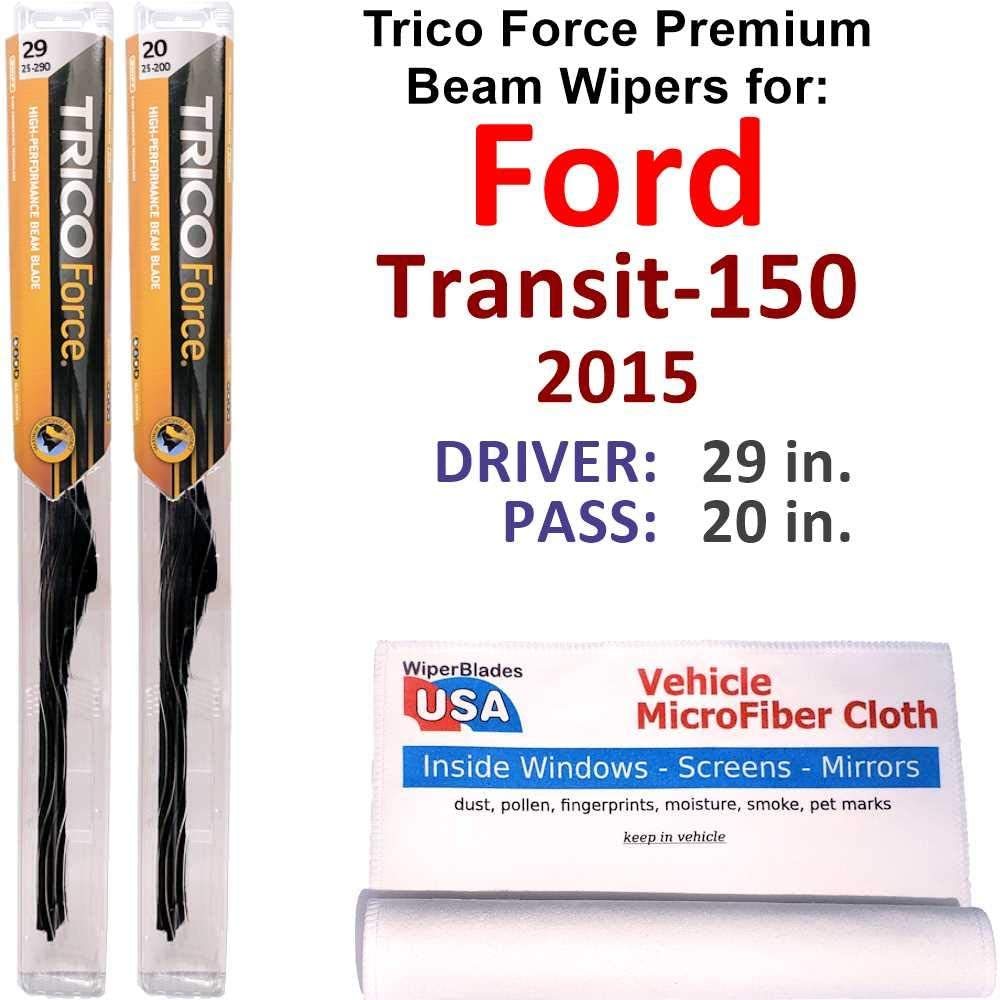 Premium Beam Wiper Blades Sales for sale 2015 Transit-150 Ford Trico Set Fo online shopping