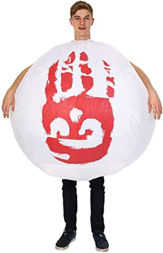 Adult Inflatable Wilson Football Volley Castaway Film 00s Fancy Robe Costume