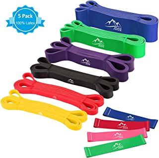JDDZ Pull up Assist Band Premium Latex Stretch Resistance Bands |Powerlifting Bands|Workout/Exercise Band Mobility Bands for Body Fitness Training, Include Instruction Guide