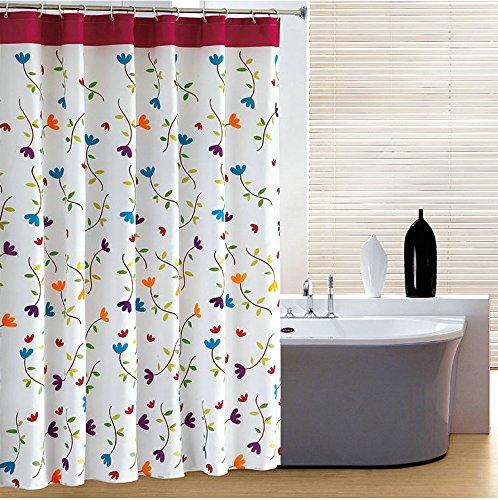 Wasserdichte Schimmel am Duschvorhang duschvorhang bad blaue Blume Polyester Gepolsterte Duschvorhänge Duschvorhänge, badezimmer,W 180*180 h