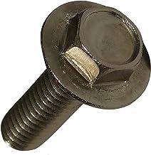 Aerzetix: 10 schroeven met zeskantkop 8mm met band M6x20mm roestvrij staal A2 C18879
