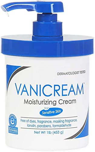 Vanicream Moisturizing Cream with Pump, White, Fragrance Free, 16 Oz