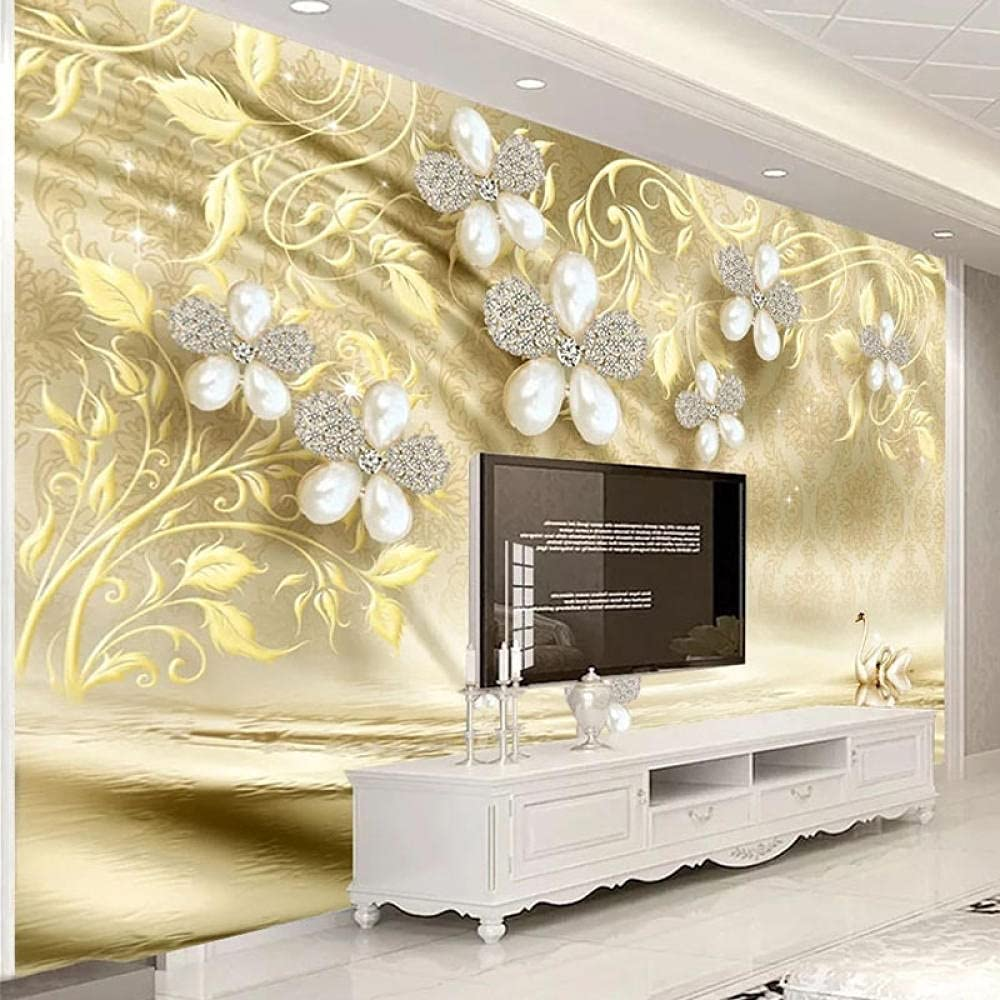 Custom Photo Wallpaper 3D Stereo Mural Max 81% OFF Jewelry Ranking TOP11 Livi Pearl Flower