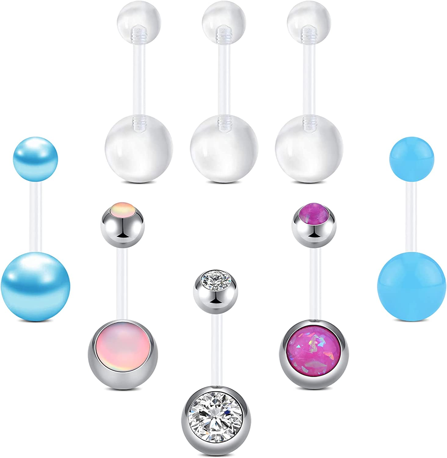OFFicial store FECTAS Plastic Belly Button Rings Gifts Retainer for Navel Mater