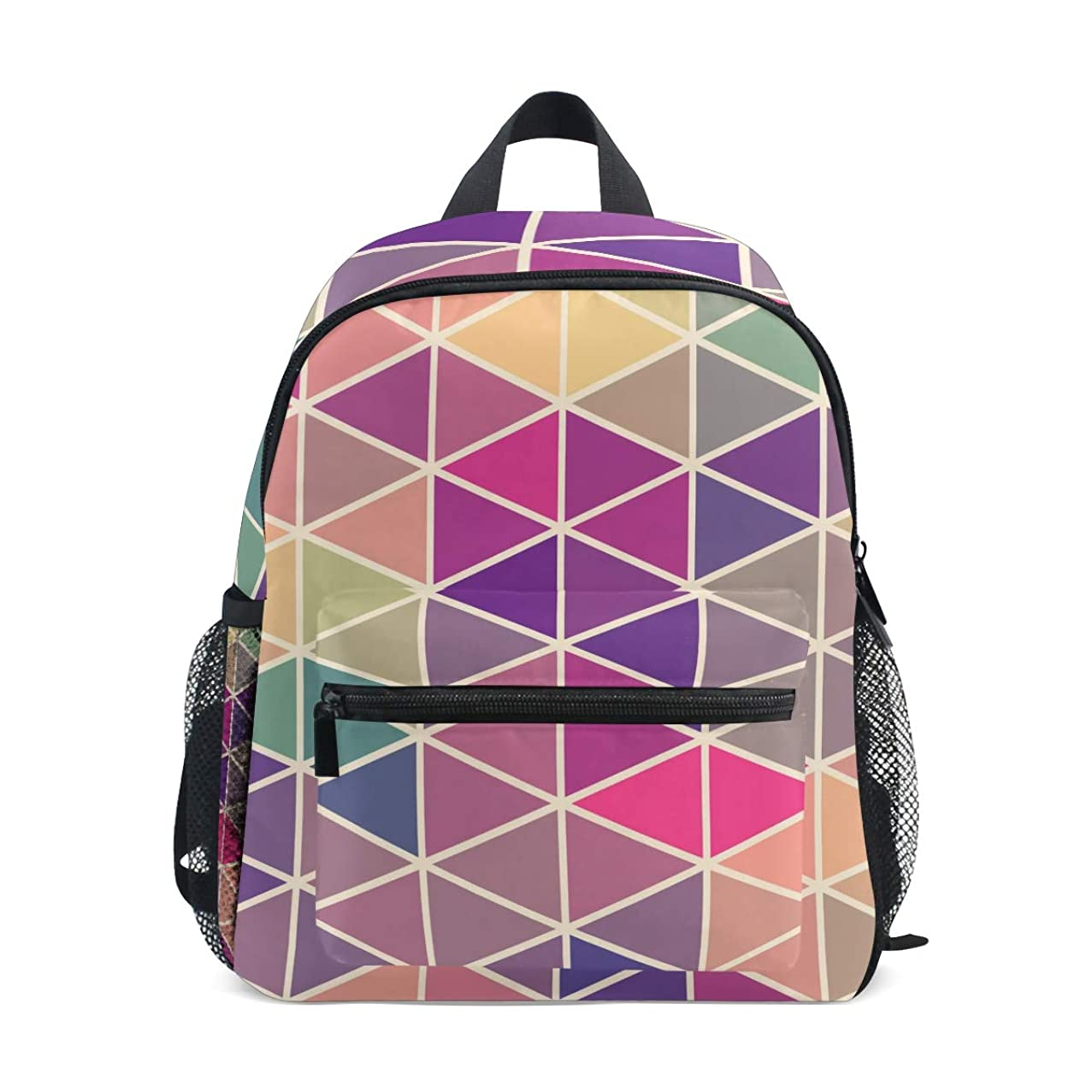 GIOVANIOR Vintage Squares And Triangles Mosaic Lightweight Travel School Backpack for Boys Girls Kids