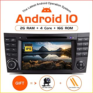 TOOPAI Android 10.0 Car Radio for Mercedes Benz E-Class W211 CLS W219 Car Stereo GPS Navigation Car GPS Media Player with 7 Inch Touch Screen Support Screen Mirror WiFi OBD2 SWC