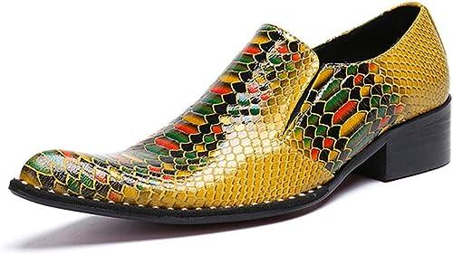Chaussures en Cuir Western Chelsea Bar Robe Singer Chaussures de Mariage décontractées pour discothèque, Affaires, Mariage, Décontracté, Bureau, Parti, Taille 37 à 46,EU40