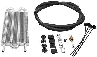 SEN Refrigerador de Aceite de transmisión de 4/6/8 Filas y Kit de Montaje Radiador Remoto Aluminio Negro 4