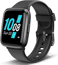 Lintelek Smart Watch Blood Pressure Monitor, Blood Oxygen Monitor Smartwatch, HR Fitness Tracker with 5 ATM Waterproof, Pe...