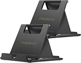 """MoKo [2 Pack] Phone/Tablet Stand, Foldable Holder Fit with iPhone 11 Pro Max/11 Pro/11, iPhone Xs/Xs Max/Xr/X, iPhone SE 2020, iPad Pro 11 2020/10.2/Air 3/Mini 5, Galaxy S20 6.2"""", Black"""