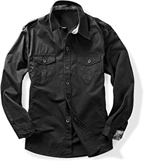 mens black military shirt