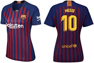 Lionel Messi Barcelona #10 Women's Soccer Jersey Home Short Sleeve Adult Sizes