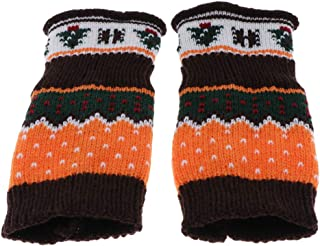Baoblaze Pair Of Mitts Gloves Woman Winter Fingerless Warm Knitted Gloves Simple Elegant - New Year's Gift