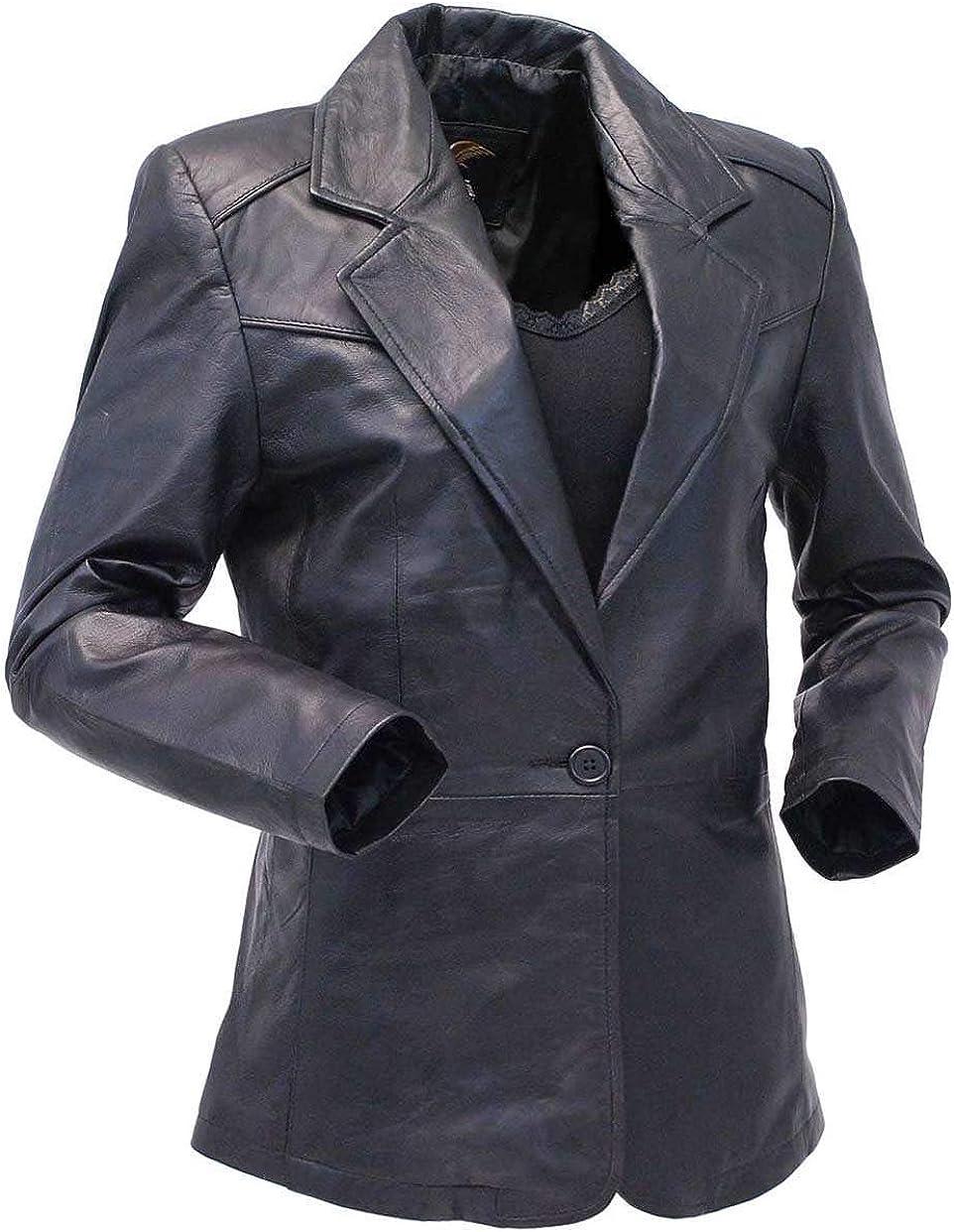 Jamin' Leather - 送料無料激安祭 Single Button 世界の人気ブランド Premium Black Blazer for