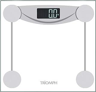 مقیاس حمام وزن دیجیتال Triomph Smart با مقدمه فناوری ، نمایشگر دارای نور پس زمینه LCD ، ظرفیت 400 لیتر و اندازه گیری دقیق وزن ، نقره (مقیاس دیجیتال جدید)