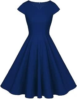 FAIRY COUPLE Vintage Rockabilly Cap Sleeves Prom Dress
