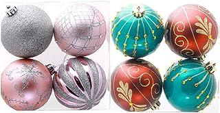 Healifty 8 Piezas Bolas Colgantes de Navidad Adorno Pintura Decoraciones navideñas Bolas de árbol Adorno de casa de Vacaciones -8 cm