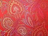 Minerva Crafts Orientalischer Brokat-Kleiderstoff, Rosa,