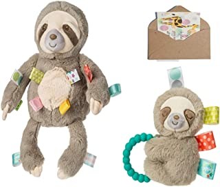 TAGGIES Soothing Sloth Baby Gift Set- Baby Rattle, Soft Cuddly TAGGIE Toy and Gift Card-3 Items
