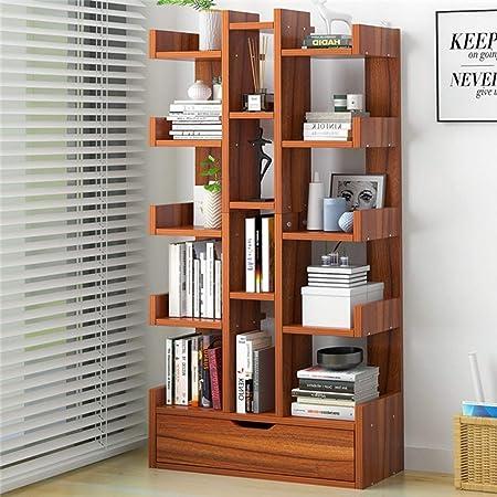 KKCD Estanterías estante libros de madera del estante de ...