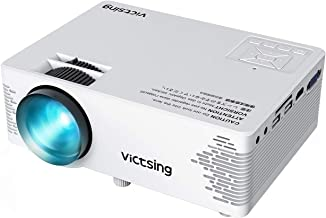 VicTsing Mini Projector with HiFi Steoro Sound, 3500 Lux (50% Brighter), 1080P Supported. Portable Projector with Customsized Bag. Compatible with TV Stick, Laptop, 2019 Upgraded