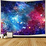 Galaxy Tapestry Nebula Tapestry Starry Sky Tapestry Colorful Cosmic Out Space Tapestry Psychedelic Mystic Stars Tapestry Wall Hanging for Ceiling Living Room Dorm Decor