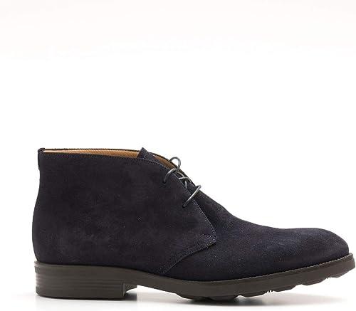Fabi - Hi-Top Lace up chaussures in bleu go Rain Suede - FU9177A00ANIGON603