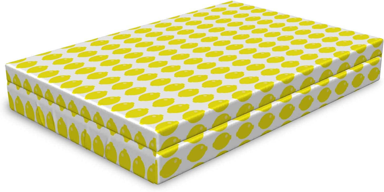 Lunarable Lemon Dog Bed Challenge the lowest price of Japan Graphic Sour Oval Super-cheap Fresh Abstract Style