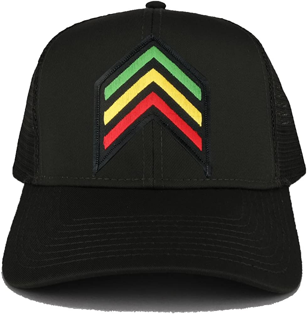 Rasta Sergeant RGY Arrow Embroidered Patch Large-scale sale Iron Max 70% OFF Adjustable Tr on