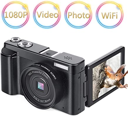 Digital Camera Vlogging Camera Camcorder 24MP Full HD...