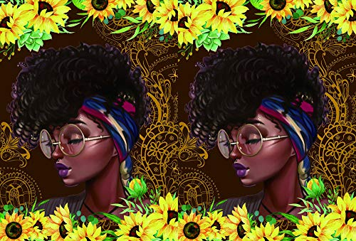 iPad Mini Case, iPad Mini 3/2/1 Folio Protective Case - Rossy Stand Multi Angle Viewing Smart Cover with Auto Wake/Sleep for iPad Mini 1st/2nd/3rd Gen 7.9 Inch,Africa American Girl Sunflower