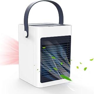 TedGem Aire Acondicionado USB, Aire Acondicionado Pequeño, 3 en 1 Enfriador de Aire Portatil, Humidificador, Ventilador de Escritorio, 3 Velocidades, para el Hogar y la Oficina (Blanco)