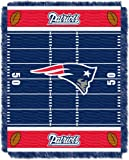 Officially Licensed NFL New England Patriots 'Field' Woven Jacquard Baby Throw Blanket, 36' x 46', Multi Color