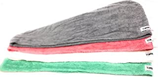 Turbie Twist 4 Pack Cotton White, Gray, Aqua, pink hair Towels