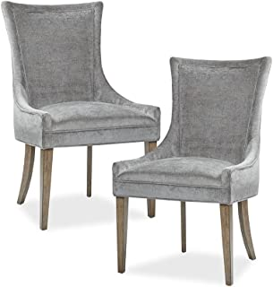 MADISON PARK SIGNATURE Ultra Dining Side Chair (Set of 2) Dark Gray See Below, Grey