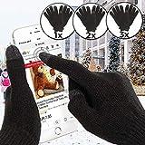 Jago Gants D'hiver Tactile Unisexe | Dimensions: 21 x 13 cm | Gants Chauds pour Smartphone, Gants...