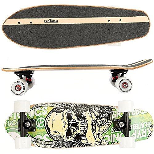 FunTomia Skateboard 66cm - 7ply Strati di Acero Canadese - con o Senza...