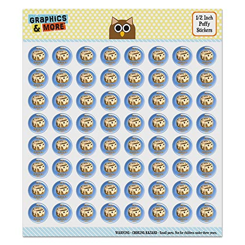 I'm A Cinnamon Roll Kawaii Puffy Bubble Dome Scrapbooking Crafting Sticker Set