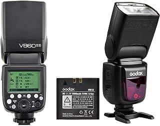 فلاش السرعة من Godox V860II-S TTL HSS 1/8000s مع جهاز استقبال مدمج 2.4 جيجا هرتز بطارية ليثيوم أيون بالإضافة إلى شاحن لكام...