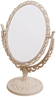 7-Inch Tabletop Vanity Makeup Mirror with 3X Magnification, Two Sided ABS Decorative..