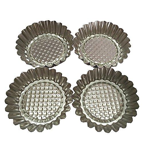 Set of 20, MYStar 3-3/4' Fluted Design Round Shape Non-stick Aluminum Tart Mold, Mini Pie Tin, Tartlet Pan