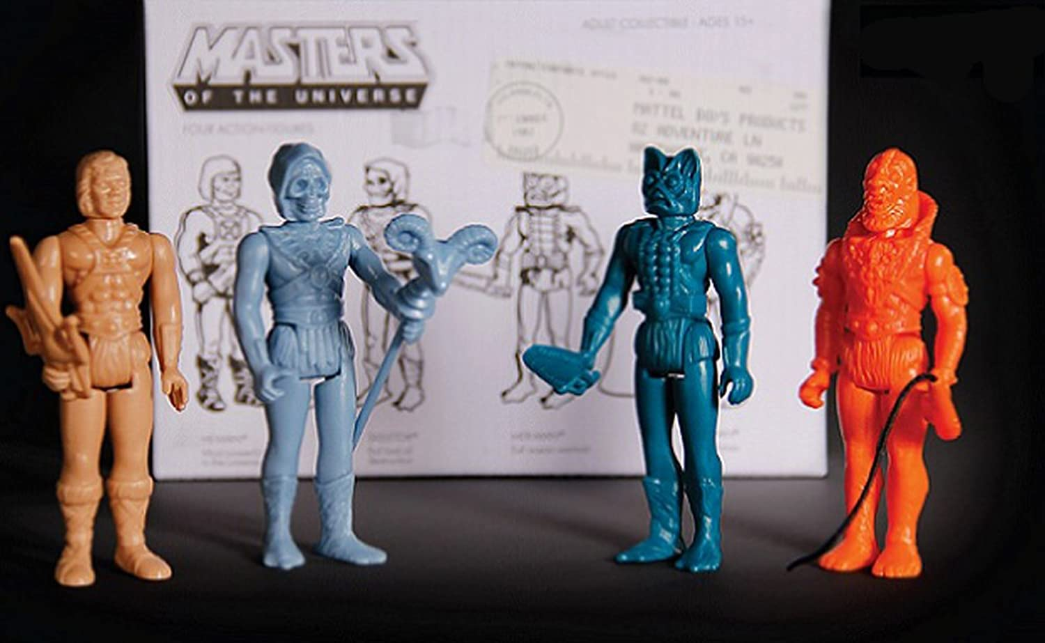 SDCC 2015 Masters of the Universe Stage 01 Predotype Action Figure 4 Pack