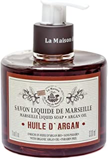 Savon de Marseille Liquid Soap,Organic Argan oil 330ml