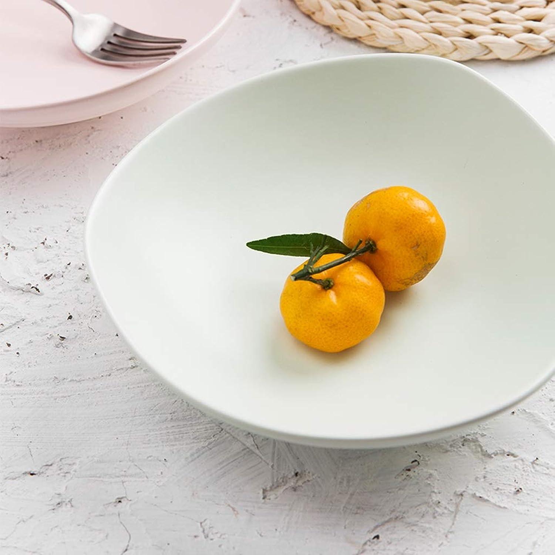 LXX-ボウル 三角形セラミックボウル北欧シンプルなセラミック食器ビッグスープボウルホームラーメン大ボウル (Color : Green)