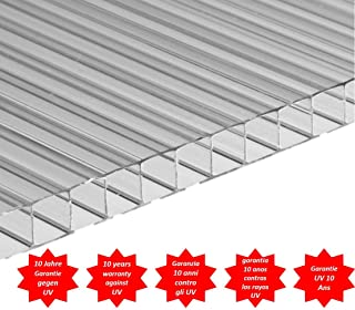 Placa/Panel de Policarbonato Alveolar Traslúcido, 4 mm de