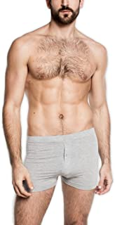 Tani USA Men's SilkCut Slim Boxers with Button Fly