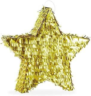Party Props, Golden Pentagram Pinata Birthday Foil Pinata Star Pinata Foil Decorative Props Supplise
